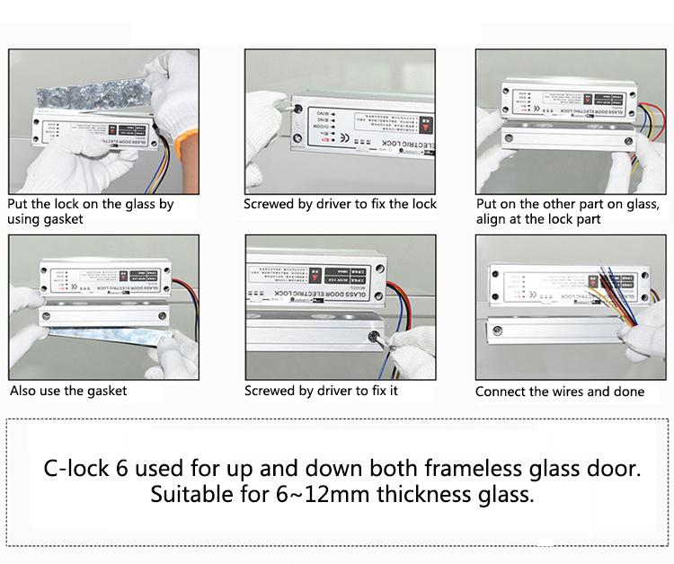 تنظیمات قفل برقی درب شیشه ای سکوریت مدل FG-C Strike 3