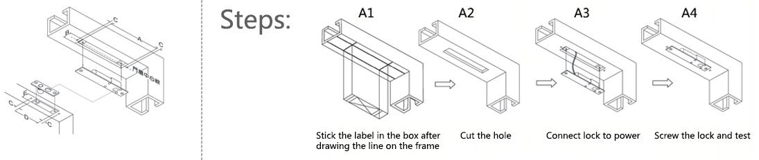 تنظیمات قفل برقی مدل FG-C Strike 2