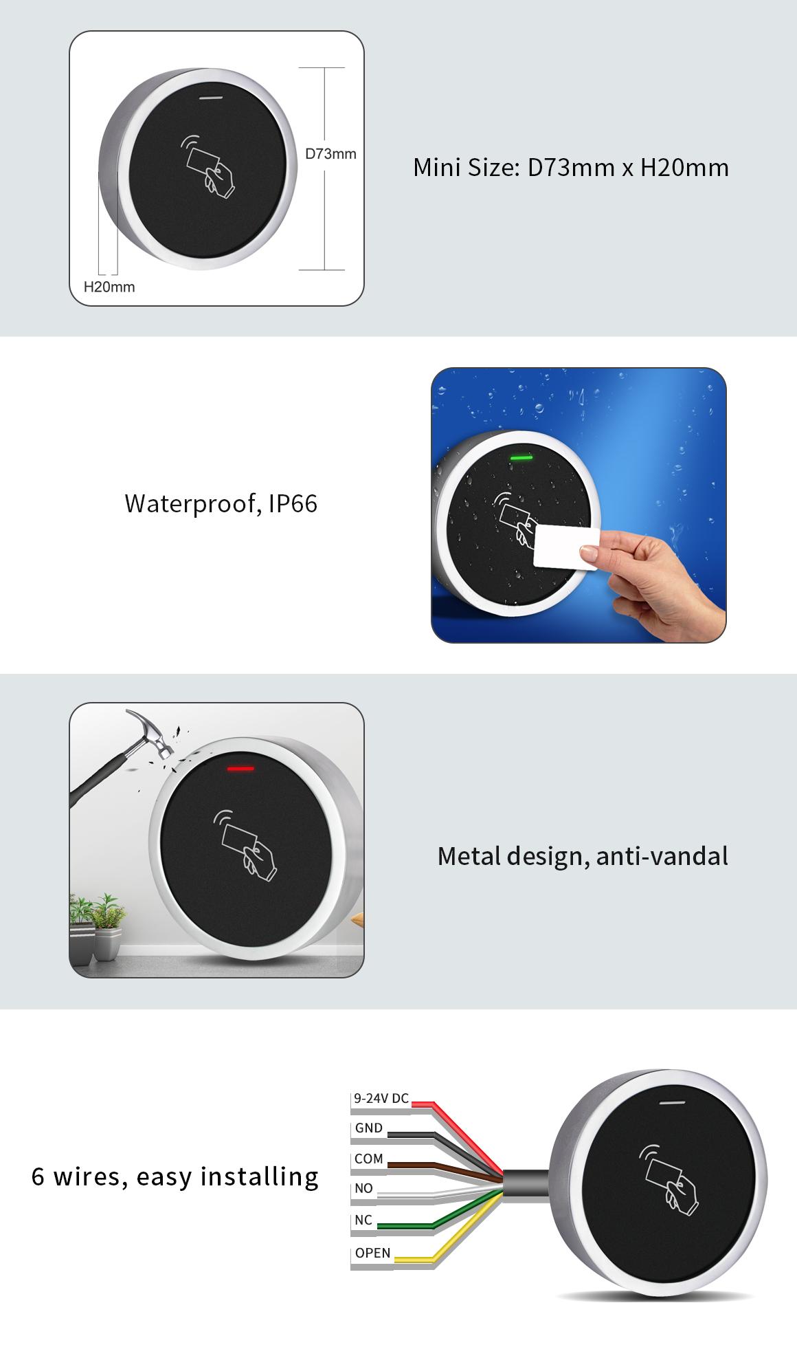 دستگاه کنترل تردد (کنترل دسترسی) (FG - S7 (EM ، ویژگی های دستگاه کنترل تردد (کنترل دسترسی) (FG - S7 (EM