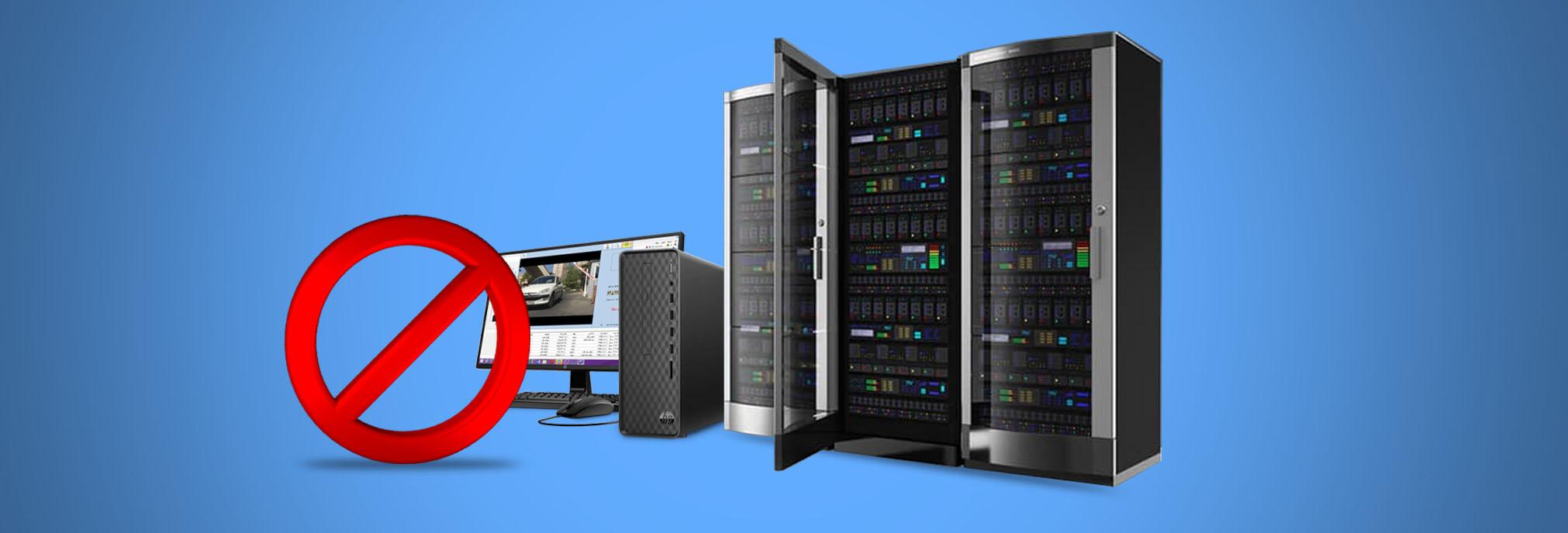 عدم نیاز به نصب سرور اختصاصی