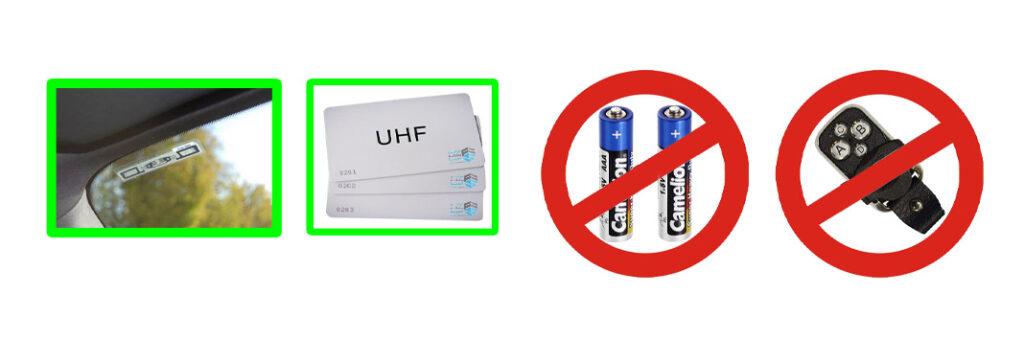 تگ های بدون باتری برای کنترل تردد خودرو